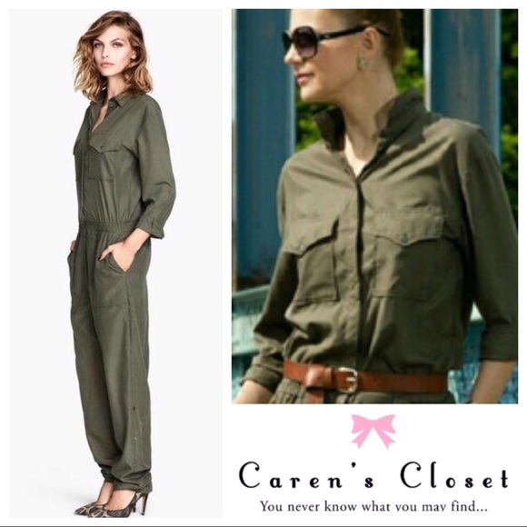 9d718c165704 H M Pants - H M  Army Green Military Inspired Jumpsuit